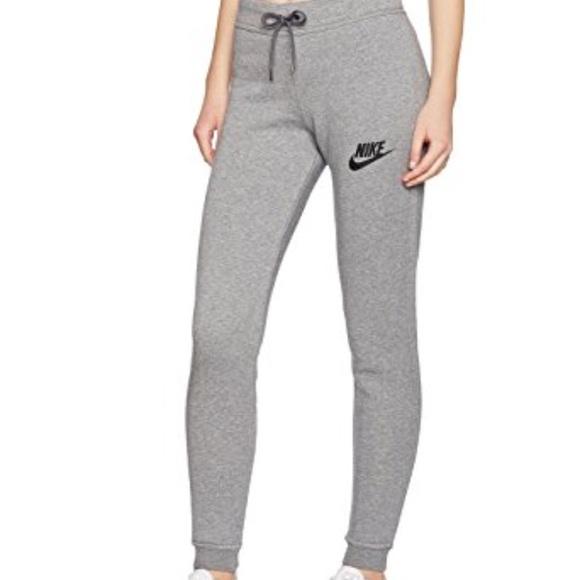 Nike rally women's grey fleece sweatpants size S